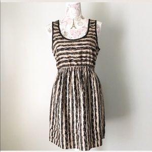 LUSH | Black and Tan Mini Dress